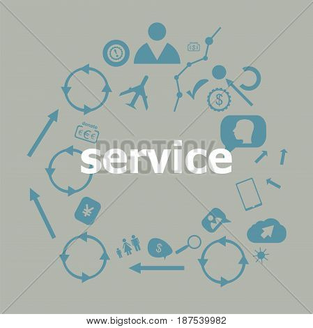Text Service. Business Concept . Universal And Standard Icons For Web And App