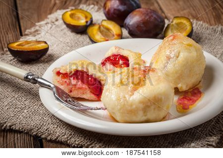 Sweet Plum Dumplings.