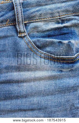 Blue Jeans Front Pocket For Background
