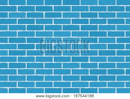 Blue brick wall texture background. Background of old vintage brick wall.