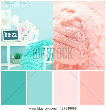 Collage of mint color matching