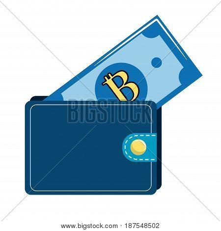 nice wallet to save bill money, vector illustration