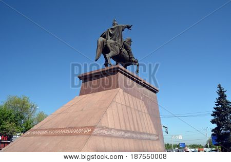 Monument to Rayimbeck Batyr.May 5, 2017.ALMATY, KAZAKHSTAN