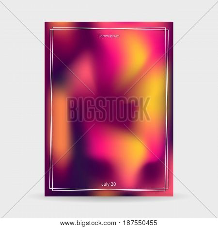 Fluid colors backgrounds, poster, purple pink yellow gradient