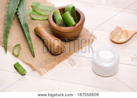 Aloe Vera Cosmetic Cream Skin Face And Body Care Hygiene Moisture Lotion.