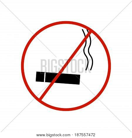 No cell phone sign on white background.vector