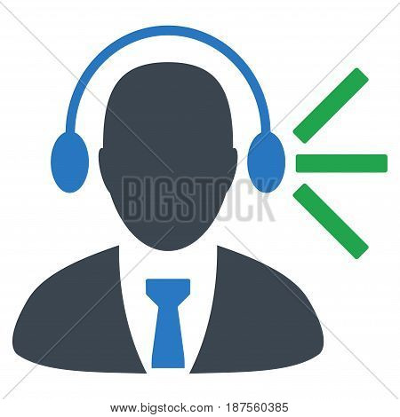 Audio Operator Sound flat vector pictogram. An isolated illustration on a white background.