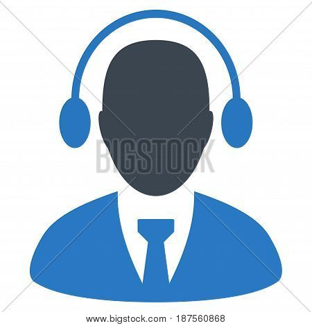 Call Center Agent flat vector pictogram. An isolated illustration on a white background.