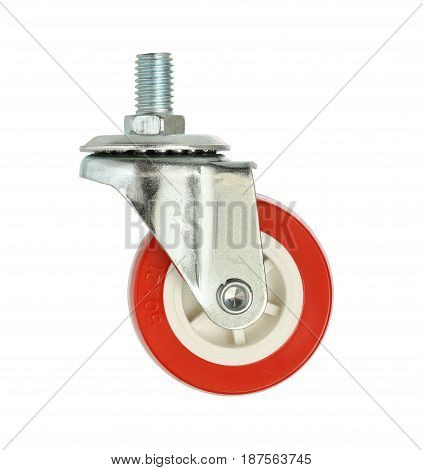 Caster wheel (with clipping path) isolated on white background
