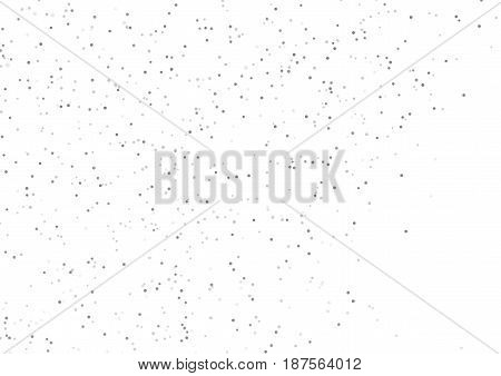 Grey halftone dust particle abstract background layout. Vector illustration
