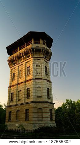 Exterior view to Chisinau water tower in Moldova