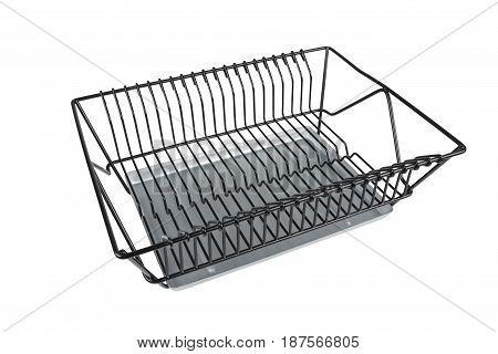 dish rack shelf isolated on white background