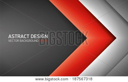 Abstract volume background, red inside, cover for project presentation, vector design