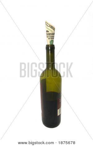 Money In Wine Bottle