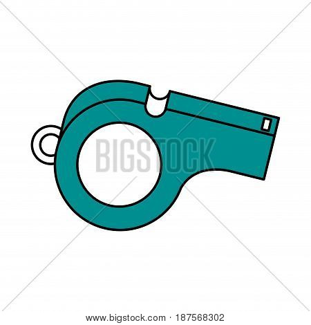 color silhouette with closeup whistle vector illustration