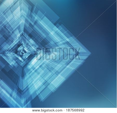 Futuristic rectangular shape vector background with lens flare. EPS10.