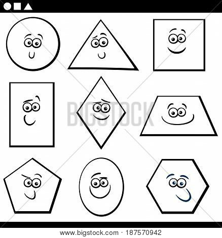 Basic Geometric Shapes For Coloring