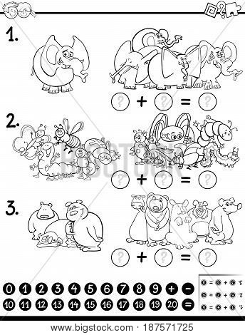 Maths Activity Coloring Page