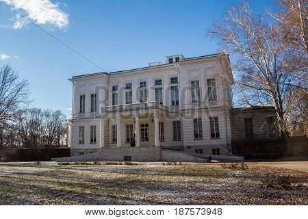 Facade view of Bogoroditsky Palace, manor estate of earl Bobrinsky, Tula region, Russua