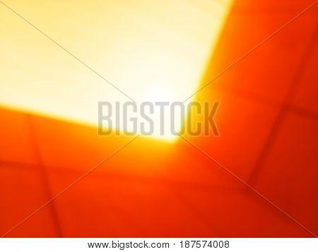 Diagonal orange sunset office walls bokeh background hd
