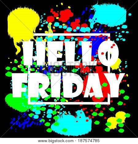 Hello Friday Poster Background Design vector illustration