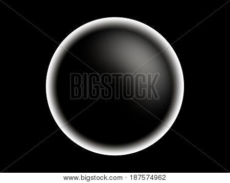 Horizontal black and white planet illustration background hd