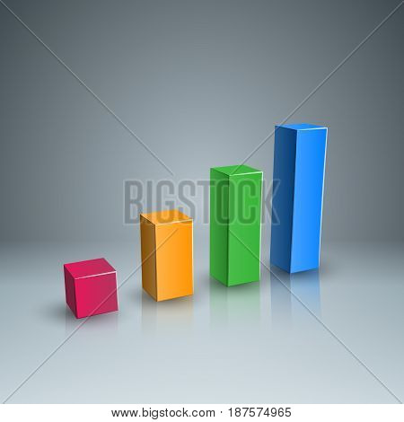 Business Infographics origami style Vector illustration. Diagram icon.