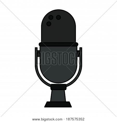 white background with desk microphone of adjustable angle vector illustration