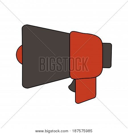 white background with megaphone closeup vector illustration