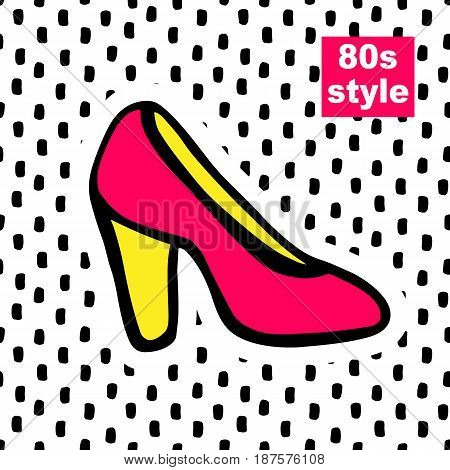 Fashion card in pop art 80s retro style. Vector illustration.
