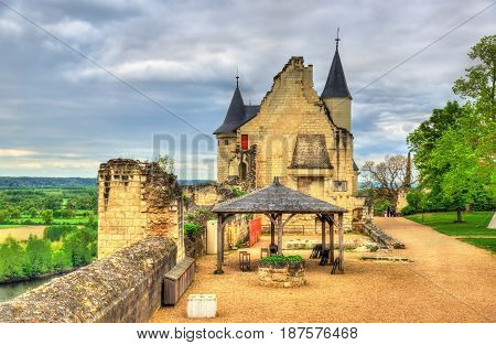 Chateau de Chinon in the Loire Valley, France. UNESCO world heritage site