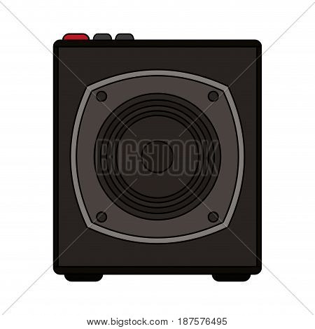 white background with portable loudspeaker vector illustration