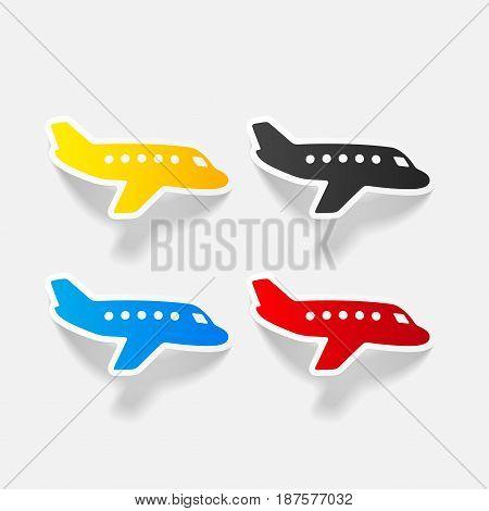It is a realistic design element: plane