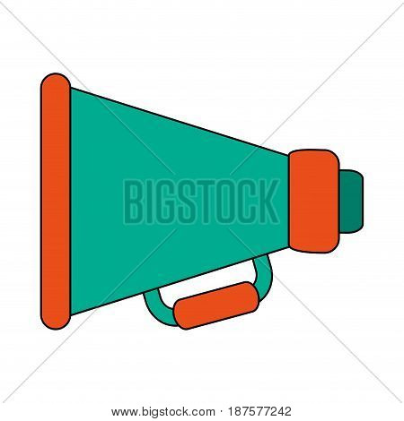 white background with megaphone symbol vector illustration