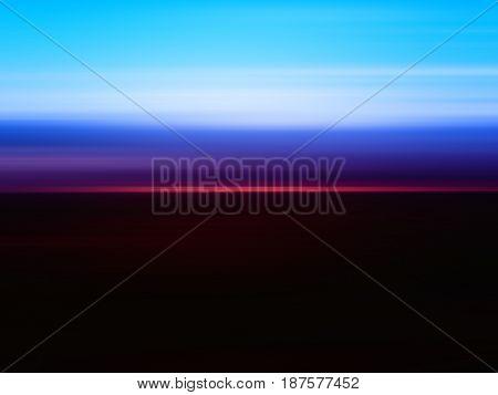 Horizontal sunrise landscape motion blur background hd