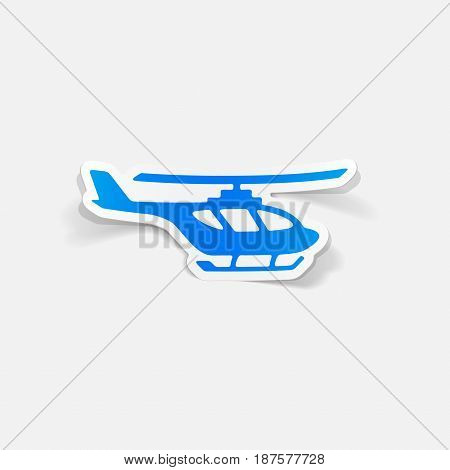 It is a realistic design element: helicopter