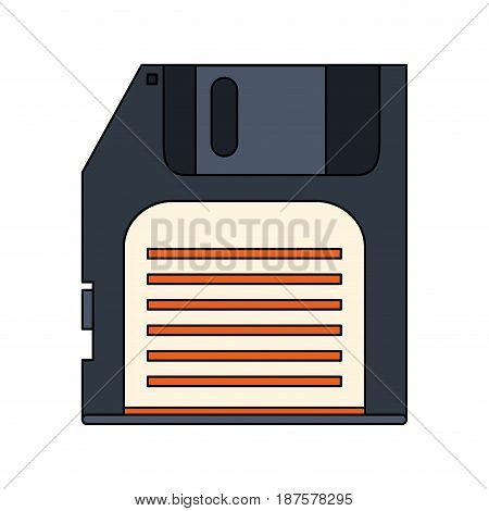 white background with floppy disk vector illustration