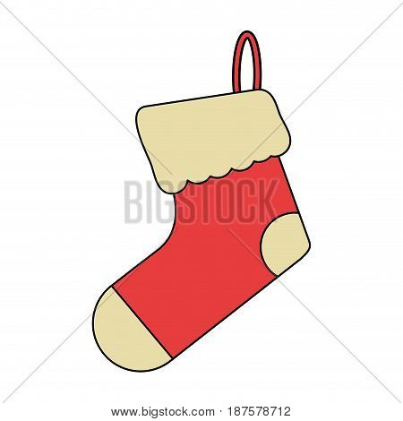white background with ornament christmas boots vector illustration