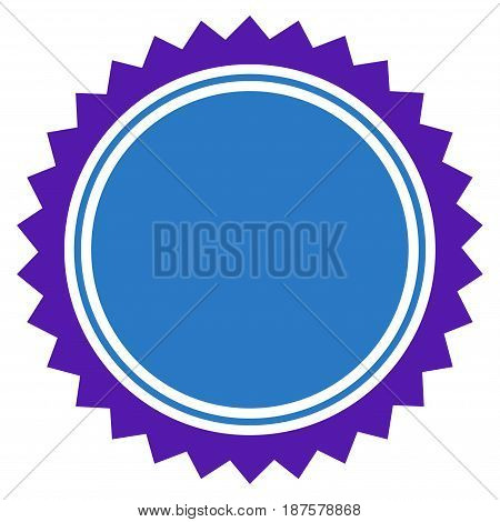 Round Seal Stamp flat vector illustration. An isolated illustration on a white background.