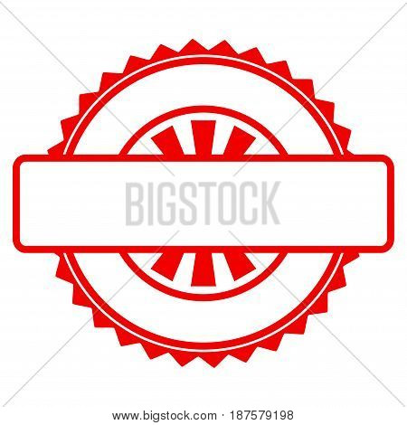 Seal Stamp Template flat vector icon. An isolated illustration on a white background.