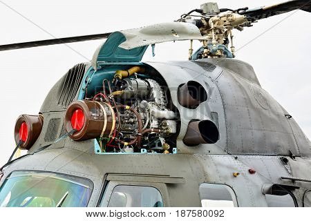 Rotor Of The Mil Mi-2 Helicopter