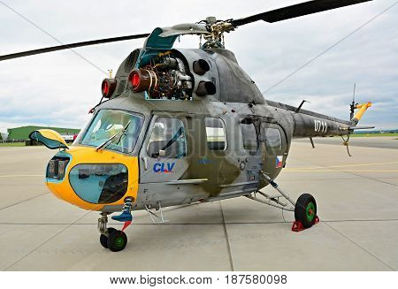 Exhibition Of Mil Mi-2 Helicopter