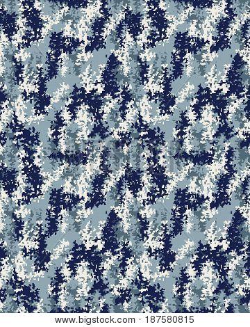 Seamless digital fashion camouflage pattern, fashion design