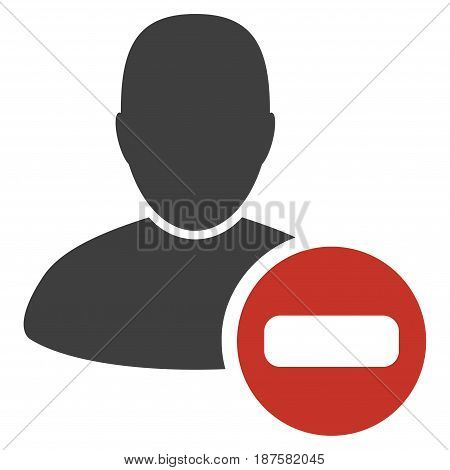 Remove User flat vector pictogram. An isolated illustration on a white background.