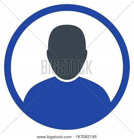 Rounded User Portrait flat vector pictogram. An isolated illustration on a white background.