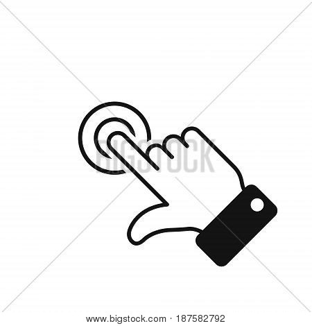 Hand click touch icon vector isolated symbol.