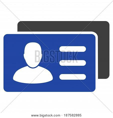User Account Cards flat vector illustration. An isolated illustration on a white background.