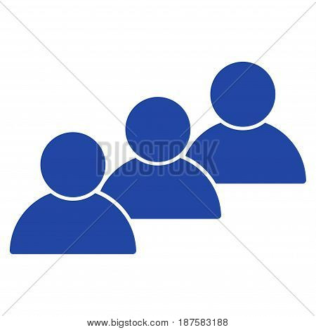 User Cohort flat vector illustration. An isolated illustration on a white background.