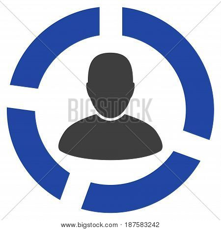 User Diagram flat vector pictogram. An isolated illustration on a white background.