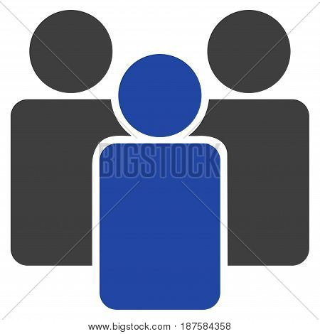 Users flat vector illustration. An isolated illustration on a white background.